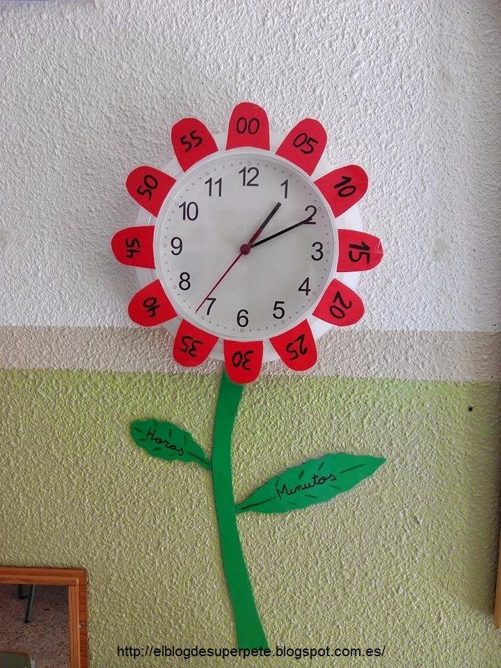 Reloj-flor