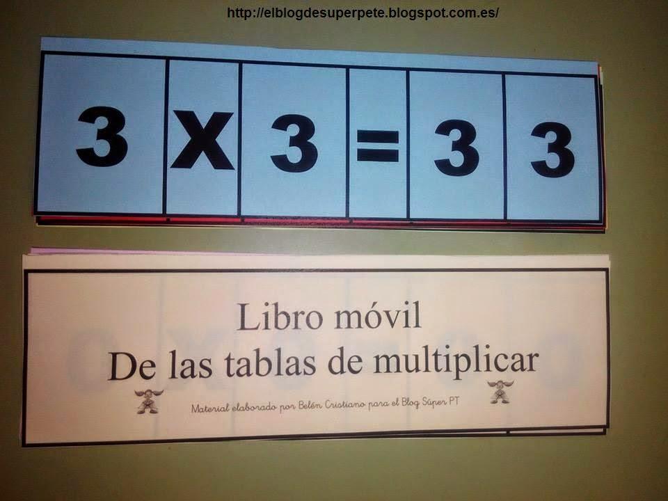 Libro Móvil De Las Tablas De Multiplicar