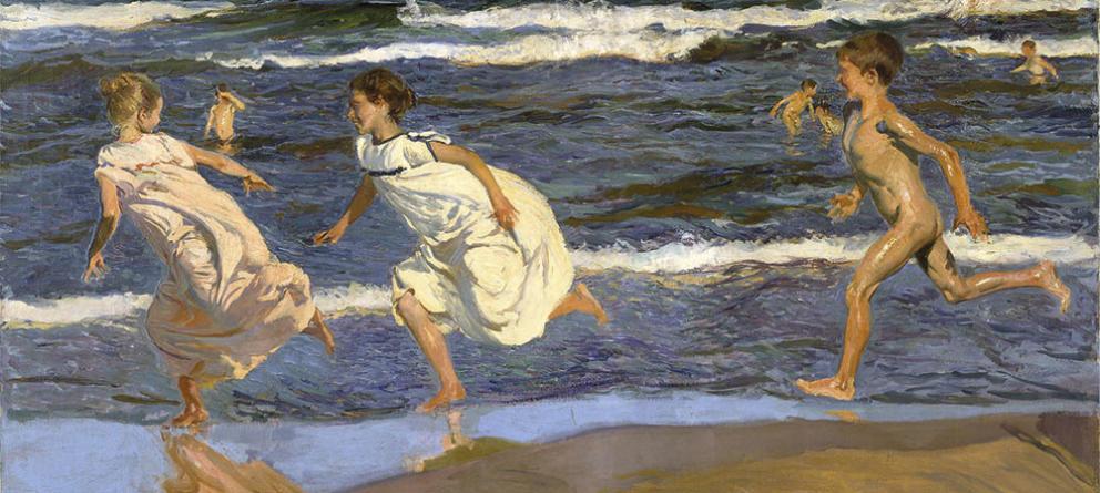 joaquin-sorolla-ninos-corriendo-por-la-playa